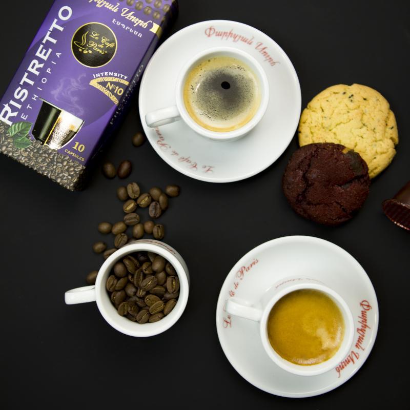 ռիստրետո փարիզյան կապսուլային սուրճ հատ ристретто парижский капсульный кофе штук ristretto le café de paris capsule coffee pieces