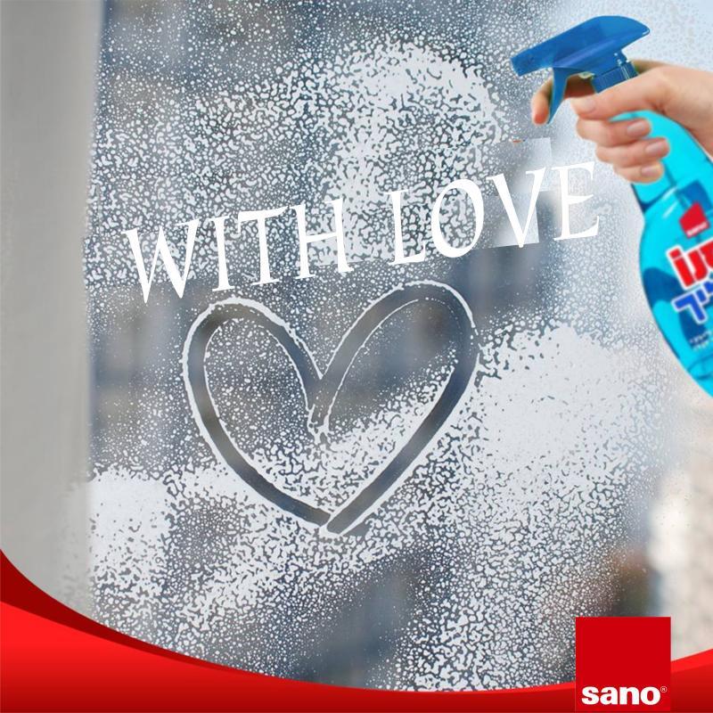 ապակի մաքրող հեղուկ սանո средство для мытья стекол и различных поверхностей clear blue sano clear multi purpose cleaning and shining liquid