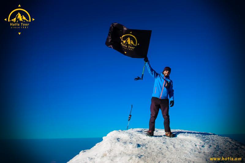 արարատ լեռան գագաթին на вершине горы арарат on the top of mount ararat